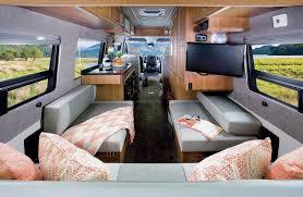 motor home interior 2015 roadtrek mercedes sprinter 3500 motorhome minimally