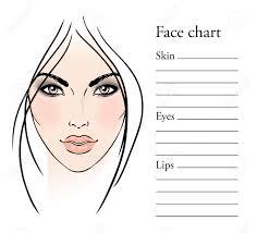 for makeup artists templates for makeup artist chart makeup artist blank