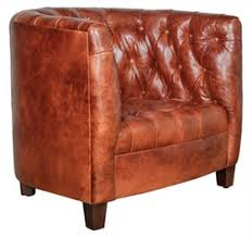 Leather Lounge Chair Tufted Barrel Chair Traditional Transitional Lounge Chairs