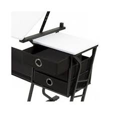 Drafting Table Set Black Drafting Table Set Stool Drawers Art Studio Drawing Tilting