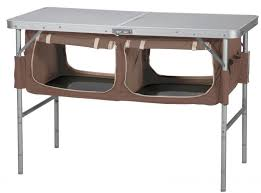 oztrail folding camp storage table with pantry camping
