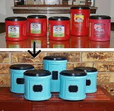 food canisters kitchen fabulous folger s coffee plastic container upcycle snacks jar and