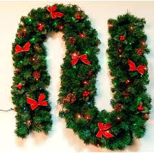 christmas garland with lights christmas garland decorations musicyou co