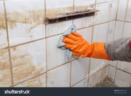 Cleaning Old Tile Floors Bathroom Cleaning Dirty Old Tiles Bathroom Stock Photo 86570470 Shutterstock