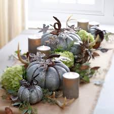 galvanized pumpkin tablescape from the fall winter 2016