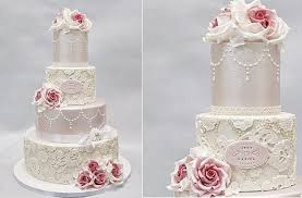 lace wedding cakes pearl beaded lace cake geek magazine
