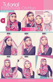 tutorial jilbab jilbab tutorial hijab pashmina chiffon style