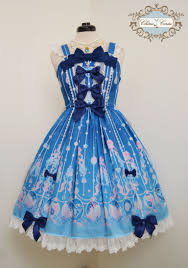 mermaid ribbon mermaid jewelry ribbon rococo dress royal blue x light blue