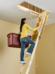 werner attic ladders installation support