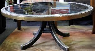 Coffee Tables With Wheels Unique Wagon Wheel Coffee Table