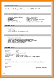 Achievements In Resume Examples For Freshers by 5 Freshers Resume Samples In Word Format Fancy Resume