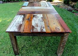 Build Outdoor Wood Furniture by Reclaimed Wood Dining Table Design With An Edge Pinterest