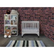 Grey Mini Crib Baby Mod Rainbow Mini Crib Cool Grey Walmart