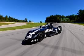 nissan race car delta wing nissan deltawing undergoes testing at road atlanta