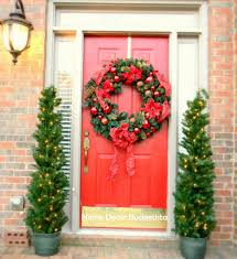 stylish decoration front door christmas trees tree home decorating