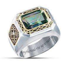mens ring mystic topaz mens ring the legend of ireland