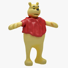 winnie the pooh 3d model low poly winnie the pooh not rigged cgtrader