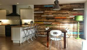 kitchen feature wall ideas pallet wood feature wall