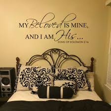 online get cheap scripture wall decals quotes aliexpress com my beloved is mine and i am his song of solomon 2 16 bible verse scripture vinyl wall decal quote lettering 10