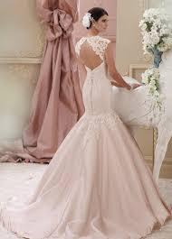 pink wedding dress light pink cap sleeve lace trumpet wedding dress 115236 meadow