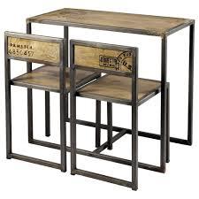 tavoli per sala da pranzo tavolo per sala da pranzo 2 sedie in mango e metallo l 90 cm