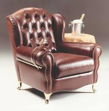 classic style armchair with quilted leather finishing idfdesign