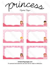 printable name tags printable princess name tags