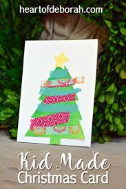 make your own christmas cards kid made christmas card using watercolor washi