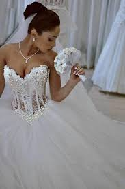 wedding dress with beading princess gown white strapless beading wedding