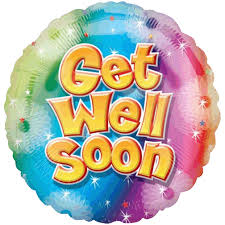 get well soon and balloons 18 get well soon colourful circle foil balloon