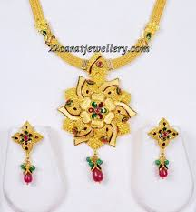 kalyan jewellers simple gold necklace sets jewellery designs