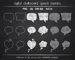 speech bubble hand drawn chalkboard speech bubbles clip art set of 18 various hand drawn
