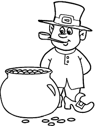 rainbow pot of gold coloring pages this leprechaun counting the coins inside a pot of gold coloring