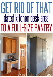 Kitchen Desk Area Ideas How To Assemble An Ikea Sektion Pantry Kitchen Desk Areas Diy