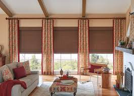 Draperies For Living Room Living Room Curtains Family Room Window Treatments Budget Blinds