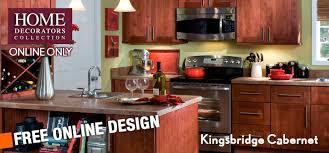 home decorators online home decorators online cabinetry kingsbridge cabernet kitchen