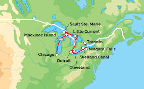 Map Of The Erie Canal Great Lakes Grand Discovery Victory Great Lakes Cruise Co