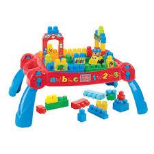 mega bloks first builders table mega bloks build n learn table mega brands toys r us little