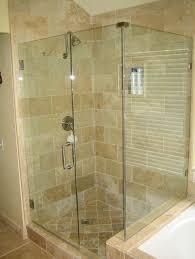 bathroom brilliant corner frameless pivot shower door image