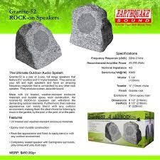 earthquake granite 52 rock on outdoor rock speakers granite 52