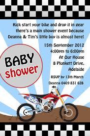 dirtbike babyshower invitations b075 motorbike baby shower