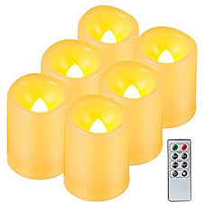 Flameless Candle Sconces With Timer Amazon Com Kohree Battery Operated Flameless Pillar Candles W