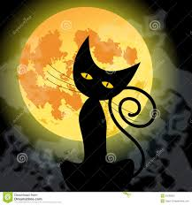 black cat and moon stock photo image 26853730