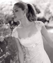 Pronovia Wedding Dresses Pronovias Lace Deep Scoop Neckline And Cap Sleeves Wedding Dress
