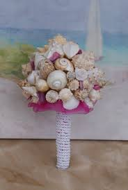 seashell bouquet fuscia pink seashell bouquet bouquet wedding des
