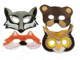 children u0027s woodland animals felt mask combo set of 4 masks