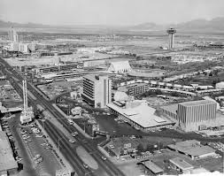 Las Vegas Strip Map Of Hotels by Historical Strip Aerials A 1964 Aerial View Of The Las Vegas