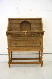 Small Drop Front Desk Small Writing Bureau In Oak