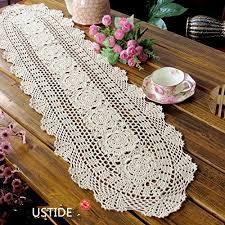 Crochet Table Cloth Crochet Table Runner Amazon Com