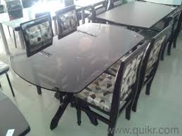 Teakwood Dinning Table  Chair With Glass Top Brand Home - Glass top dining table hyderabad
